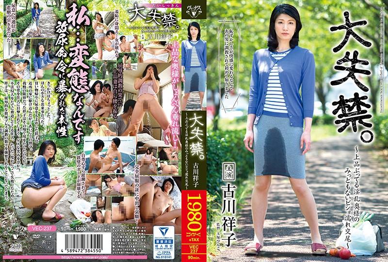 「大失禁。~上品ぶってる淫乱奥様のみっともないビショ濡れ交尾~ 古川祥子」のパッケージ画像