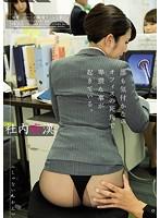 誰も気づかないオフィスの死角で痴漢されている美人OLたち