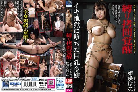 監禁された姫咲はなはムチムチの肉体を緊縛され木馬責めに耐える
